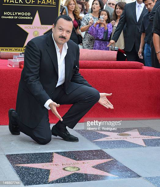 Singer Pepe Aguilar attends a ceremony honoring him with the 2474th Star on the Hollywood Walk of Fame on July 26 2012 in Hollywood California
