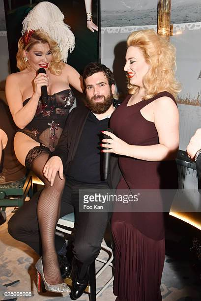 Singer /performer Allanah Starr a 'Volunteer' guest and singer Lolly Wish perform a burlesque show during 'Vibrations' Stefanie Renoma Photo...