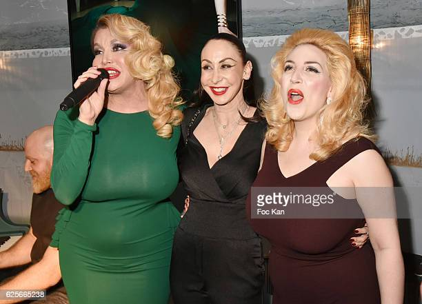 Singer /performer Allanah Starr photographer Stefanie Renoma and singer Lolly Wish attend 'Vibrations' Stefanie Renoma Photo Exhibition at Hotel...
