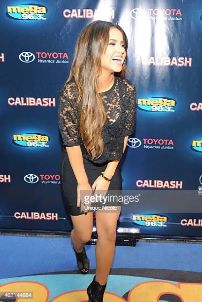 Singer Performer Becky G attends the Mega 963 Calibash at Staples Center at Staples Center on January 24 2015 in Los Angeles California