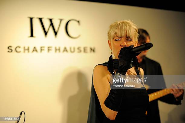 A singer performs during the IWC Flagship Boutique Opening on November 22 2012 in Beijing China