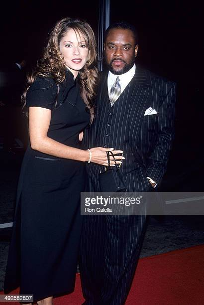 Singer Perri Pebbles Reid and record exeuctive LA Reid attend the 37th Annual Grammy Awards PreParty Hosted by Clive Davis and Arista Records on...