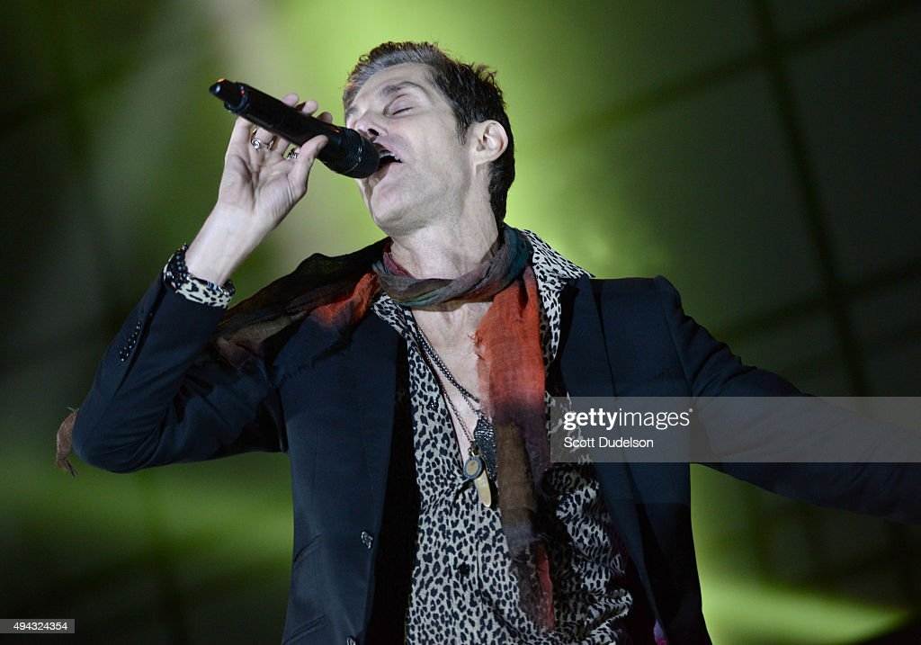 Singer Perry Farrell of Janes Addiction performs onstage at Gibson Ranch County Park on October 25, 2015 in Sacramento, California.