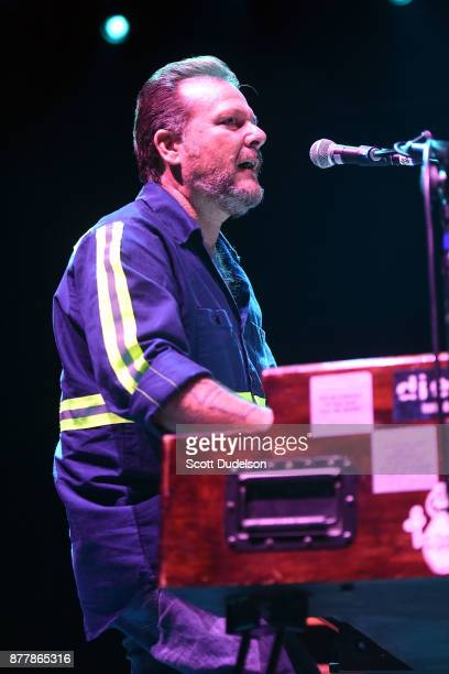 Singer Pete Mazich of Mike Watt of The Secondmen performs onstage for an opening set during X 40th anniversary tour at The Novo by Microsoft on...