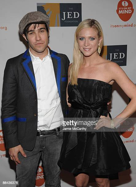 Singer Pete Wentz and actress Brittany Snow attend the 8th Annual Jed Foundation Gala at Guastavino's on June 11 2009 in New York City