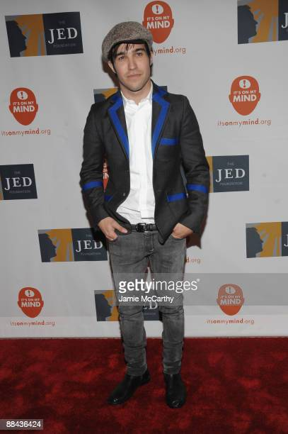 Singer Pete Wentz attends the 8th Annual Jed Foundation Gala at Guastavino's on June 11 2009 in New York City