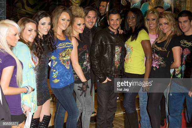 Singer Peter Andre and models attend the opening of the new Ed Hardy store at Westfield on December 1, 2009 in London, England.