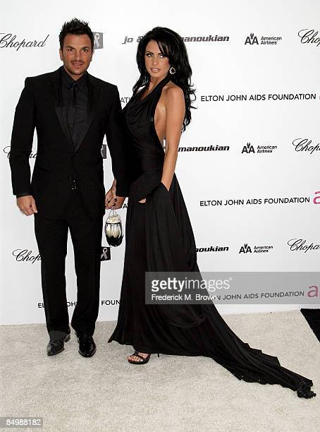 Singer Peter Andre and model/TV personality Katie Price arrives at the 17th Annual Elton John AIDS Foundation's Academy Award Viewing Party held at...