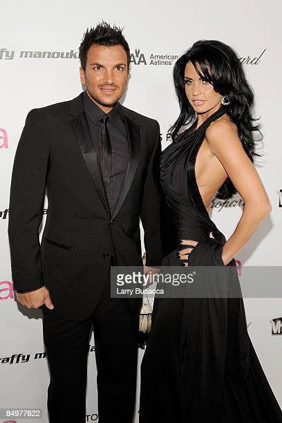 Singer Peter Andre and TV personality Katie Price arrive at the 17th Annual Elton John AIDS Foundation Oscar party held at the Pacific Design Center...