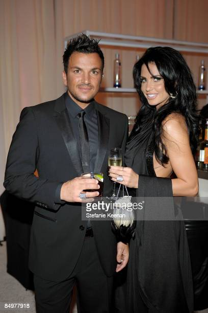 Singer Peter Andre and TV personality Katie Price attend the 17th Annual Elton John AIDS Foundation Oscar party held at the Pacific Design Center on...