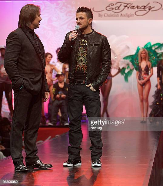 Singer Peter Andre attends the opening of the new Ed Hardy store at Westfield on December 1, 2009 in London, England.