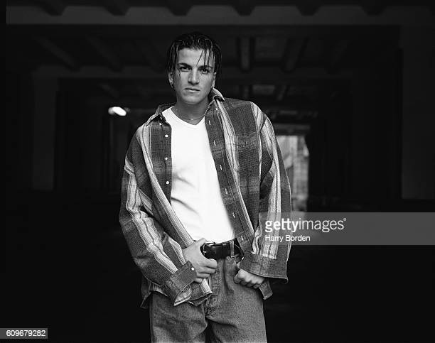 Singer Peter Andre is photographed for Big magazine on May 4 1996 in London England