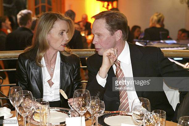 Singer Peter Kraus and his wife Ingrid attend the Audi Evening at Hotel Tenne at the Hahnenkamm Ski Races January 23 2004 in Kitzbuehel Austria