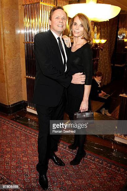 Singer Peter Kraus and wife Ingrid attend the Russian Fashion Gala at the Embassy of the Russian Federation on March 17 2010 in Berlin Germany