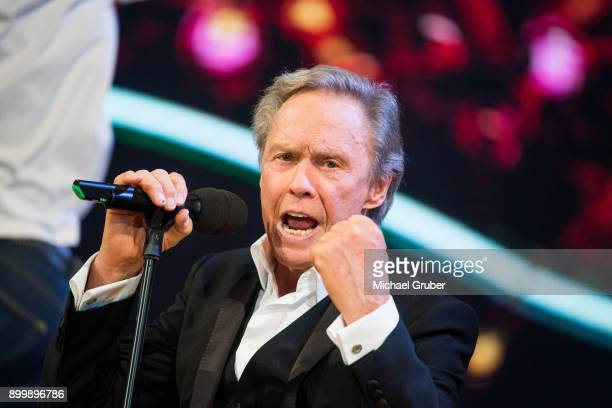 Singer Peter Kraus performs during the New Year's Eve tv show hosted by Joerg Pilawa on December 30 2017 in Graz Austria