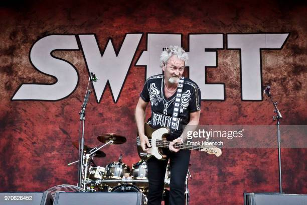 Andy Scott and Peter Lincoln of the British band Sweet perform live on stage during a concert at the Zitadelle Spandau on June 9 2018 in Berlin...