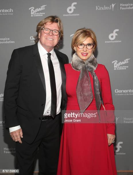 Singer Peter Noone and Mireille Strasser Noone attend the Dream Foundation's 2017 Dreamland Gala at The RitzCarlton Bacara on November 18 2017 in...