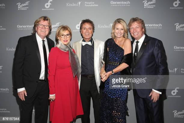 Singer Peter Noone Mireille Strasser Noone singer Cliff Richard Dream Foundation CEO Kisa Heyer and director Nigel Lythgoe attend the Dream...