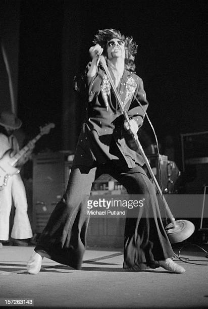 Singer Peter Wolf from The J. Geils Band performs live on stage at the Lyceum in London, 30th June 1972.