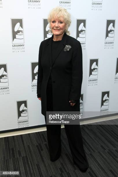 Singer Petula Clark at An Evening With Petula Clark at The GRAMMY Museum on November 18 2013 in Los Angeles California