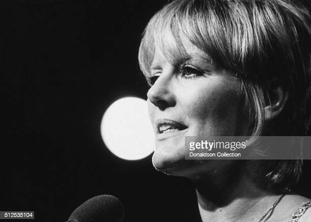 Singer Petula Clark performs onstage in circa 1969