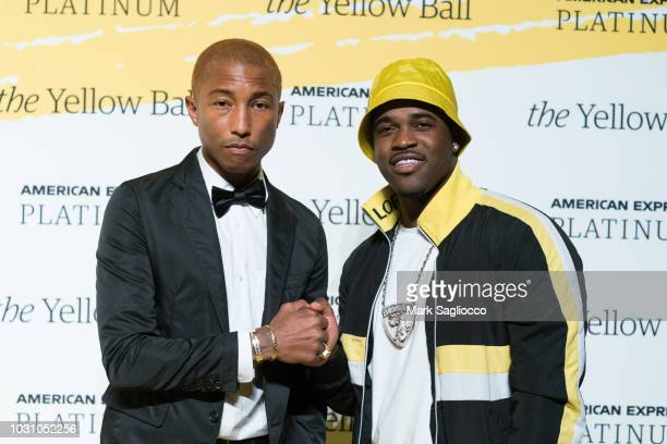 Singer Pharrell Williams and A$AP Ferg attend the Yellow Ball at the Brooklyn Museum on September 10 2018 in New York City