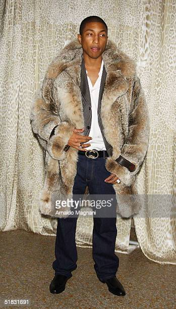 Singer Pharrell Williams attends a preview gala dinner for the Metropolitan Museum's 'Wild Fashion Untamed' exhibition hosted by fashion designer...