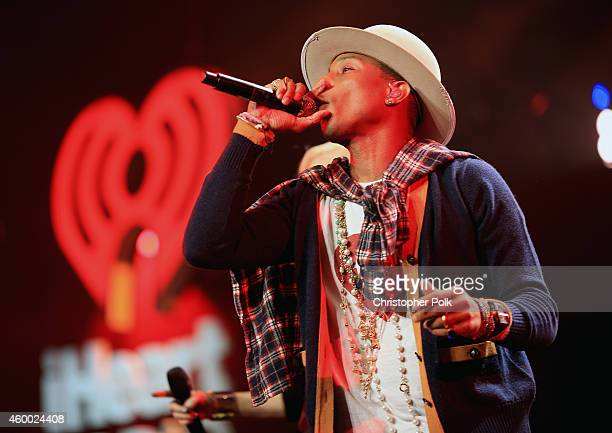 Singer Pharrell Williams performs onstage during KIIS FM's Jingle Ball 2014 powered by LINE at Staples Center on December 5 2014 in Los Angeles...