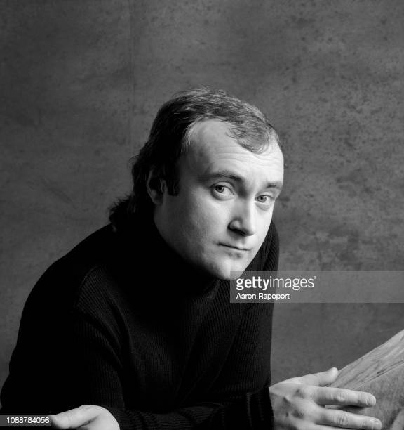 Singer Phil Collins poses for a portrait in 1985 in Los Angeles California
