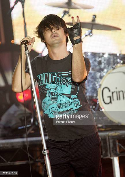 Singer Phil Jamieson of Grinspoon performs on stage at the inaugural MTV Australia Video Music Awards at Luna Park on March 3 2005 in Sydney Australia