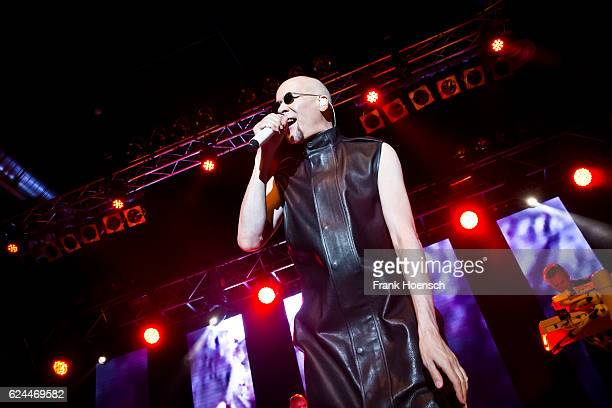 Singer Phil Oakey of the British band The Human League performs live during a concert at the Huxleys on November 19 2016 in Berlin Germany