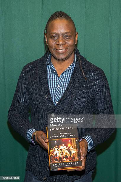 """Singer Philip Bailey promotes the new book """"Shining Star: Braving The Elements Of Earth, Wind, And Fire"""" at Barnes & Noble 82nd Street on April 17,..."""
