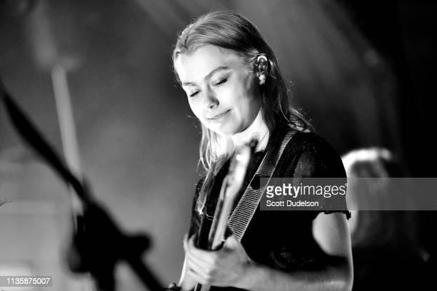 Singer Phoebe Bridgers performs onstage at Teragram Ballroom on March 13 2019 in Los Angeles California