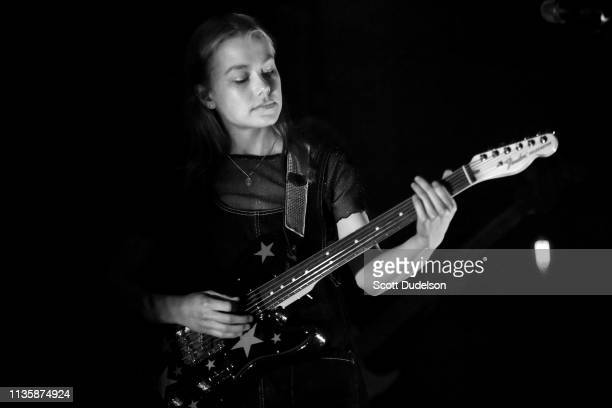 Singer Phoebe Bridgers performs onstage with her side project Better Oblivion Community Center at Teragram Ballroom on March 13 2019 in Los Angeles...
