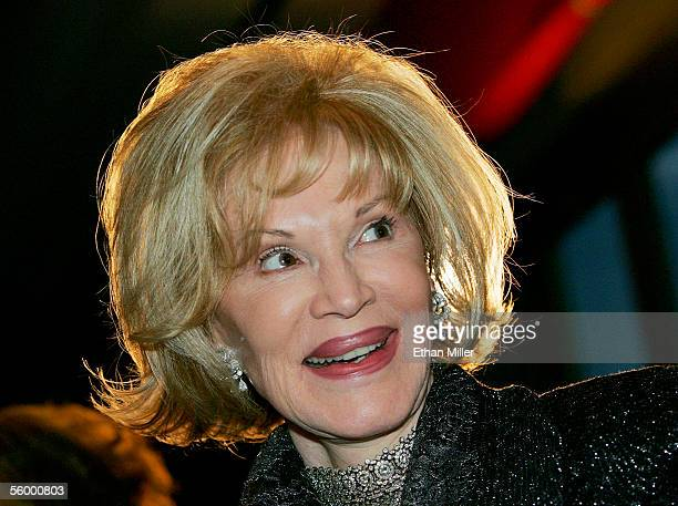 Singer Phyllis McGuire smiles as she appears at French entertainer Line Renaud's Las Vegas Walk of Stars dedication ceremony at the Paris Las Vegas...
