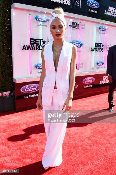 Singer Pia Mia attends the BET AWARDS '14 at Nokia Theatre LA LIVE on June 29 2014 in Los Angeles California