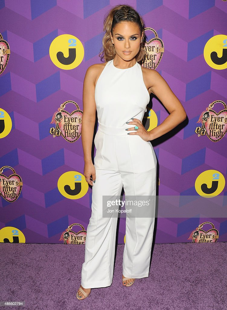 Singer Pia Toscano arrives at Just Jared's Way To Wonderland Presented By Ever After High at Greystone Manor Supperclub on August 27, 2015 in West Hollywood, California.