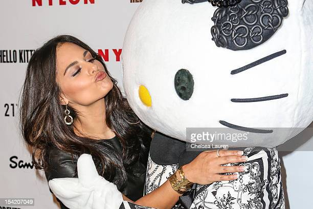 Singer Pia Toscano arrives at Nylon's October IT Issue and launch of the Hello Kitty and Forever 21 collaboration at The London West Hollywood on...