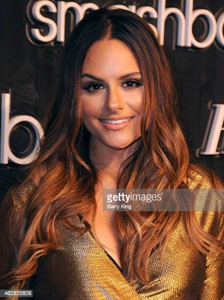Singer Pia Toscano arrives at Smashbox Studios Grand ReOpening Party at Smashbox Studios on February 5 2015 in Culver City California