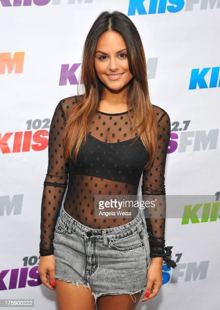 Singer Pia Toscano arrives at the 1027 KIIS FM Teen Choice Awards preparty at W Los Angeles on August 9 2013 in Los Angeles California