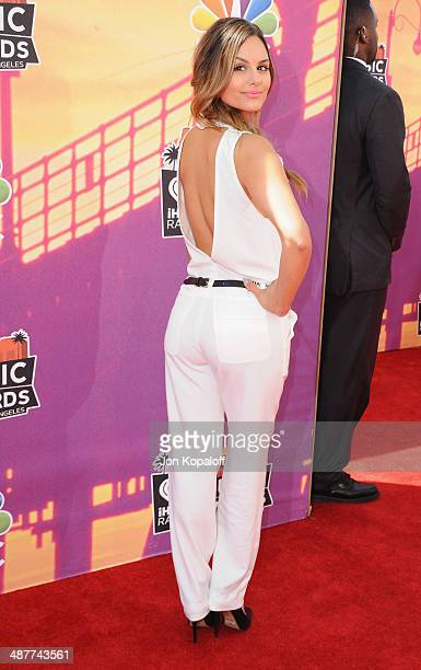 Singer Pia Toscano arrives at the 2014 iHeartRadio Music Awards at The Shrine Auditorium on May 1 2014 in Los Angeles California