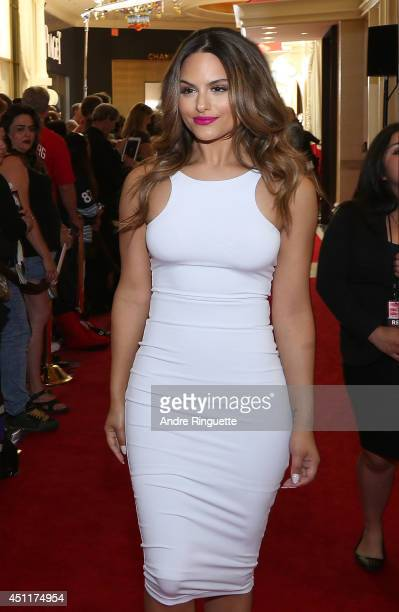 Singer Pia Toscano arrives at the 2014 NHL Awards at Encore Las Vegas on June 24 2014 in Las Vegas Nevada