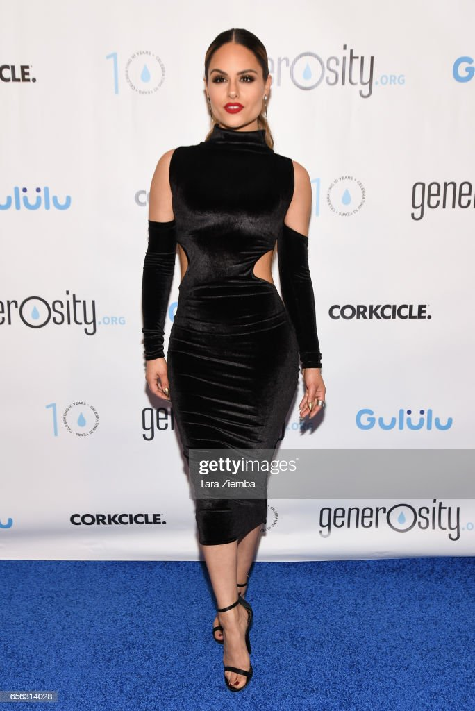 Singer Pia Toscano attends a Generosity.org fundraiser for World Water Day at Montage Hotel on March 21, 2017 in Beverly Hills, California.