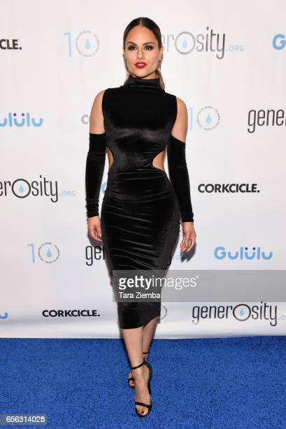 Singer Pia Toscano attends a Generosityorg fundraiser for World Water Day at Montage Hotel on March 21 2017 in Beverly Hills California