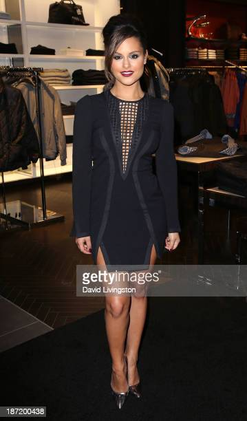Singer Pia Toscano attends Bloomingdale's Glendale opening gala celebration hosted by Bloomingdale's Glendale with VH1 Save the Music Foundation on...