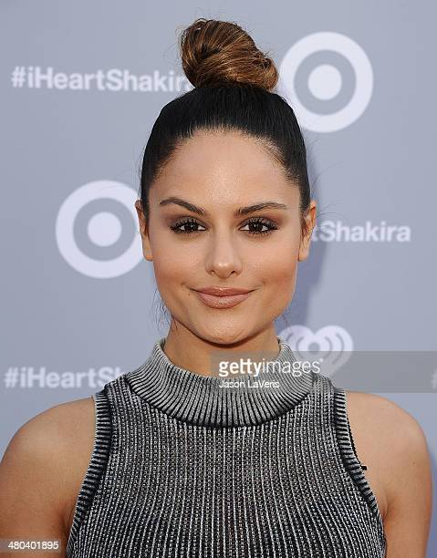 Singer Pia Toscano attends Shakira's album release party at iHeartRadio Theater on March 24 2014 in Burbank California
