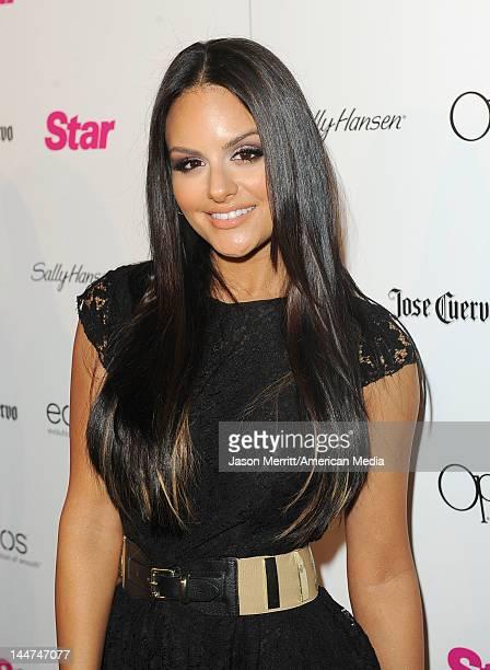 Singer Pia Toscano attends Star AllHollywood Party at AV Nightclub on April 24 2012 in Los Angeles California