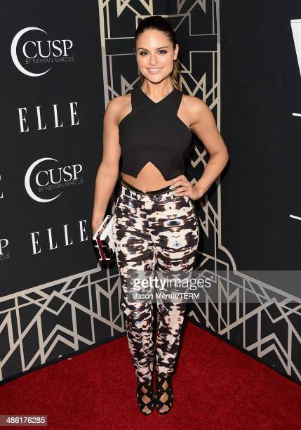 Singer Pia Toscano attends the 5th Annual ELLE Women in Music Celebration presented by CUSP by Neiman Marcus Hosted by ELLE EditorinChief Robbie...