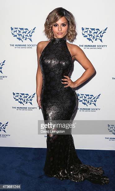 Singer Pia Toscano attends the Humane Society of the United States' Los Angeles Benefit gala at the Regent Beverly Wilshire Hotel on May 16 2015 in...