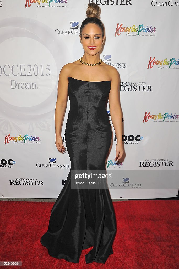 Singer Pia Toscano attends the OC Christmas Extravaganza Concert and Ball at Christ Cathedral on December 23, 2015 in Garden Grove, California.